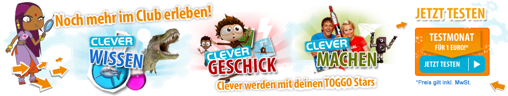Mehr erleben im TOGGO-CleverClub